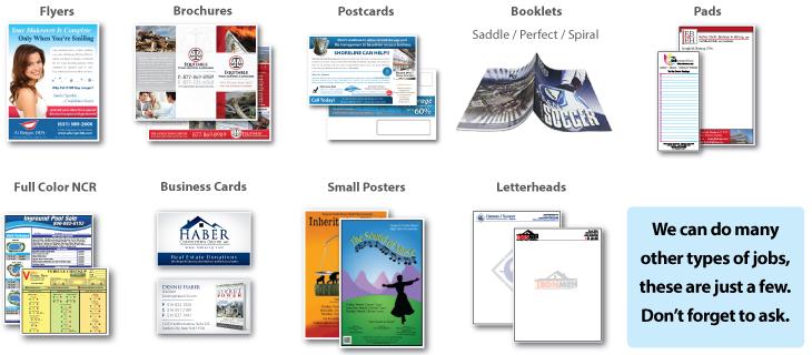 short run forms printing capabilities